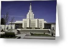 The Idaho Falls Mormon Temple Greeting Card