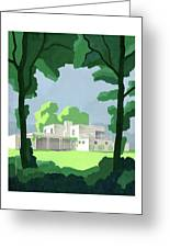 The Ideal House In House And Gardens Greeting Card
