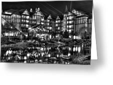 The Inn At Christmas Place Night Greeting Card