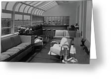 The Interior Of A Rooftop Terrace Greeting Card