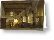 The Interior Of The Bakenesserkerk. Haarlem Greeting Card