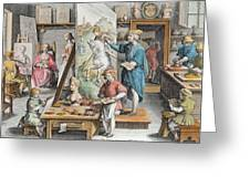 The Invention Of Oil Paint, Plate 15 Greeting Card