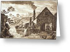 The Iron Forge Between Dolgelli Greeting Card