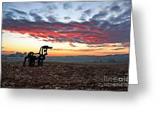 The Iron Horse Early Dawn The Iron Horse Collection Art Greeting Card