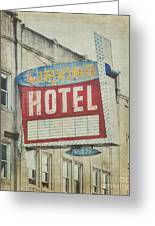 The Irving Hotel In Chicago Greeting Card
