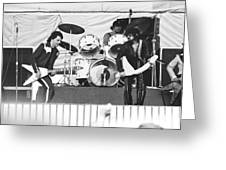 The J. Geils Band Rock Out In Oakland In 1976 Greeting Card