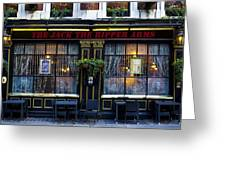 The Jack The Ripper Pub Greeting Card