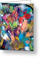 Jazz Abstract Painting Greeting Card