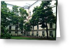 The Jefferson Building Courtyard Greeting Card