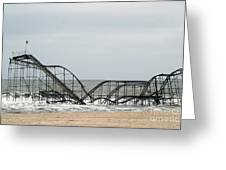 The Jetstar Rollercoaster In Seaside Heights Nj Greeting Card