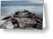 The Jetty Square Greeting Card