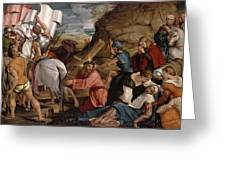 The Journey To Calvary, C.1540 Greeting Card