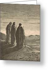The Journey To Emmaus Greeting Card
