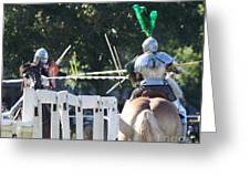 The Jousting Contest  Greeting Card