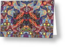 The Joy Of Design Mandala Series Puzzle 1 Arrangement 9 Greeting Card