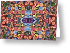 The Joy Of Design Mandala Series Puzzle 2 Arrangement 9 Greeting Card
