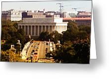 The Key Bridge And Lincoln Memorial Greeting Card