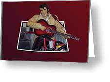 The King Elvis Greeting Card