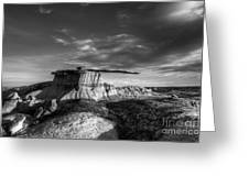 The King Of Wings Monochrome Greeting Card