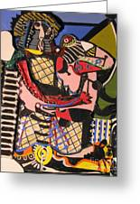 The Kiss Aka The Embrace After Picasso 1925 Greeting Card