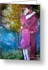 The Kiss Greeting Card by Deborah Nell
