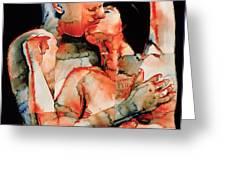 The Kiss Greeting Card by Graham Dean