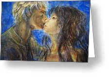 The Kiss In Landscape Greeting Card
