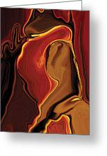 The Kiss In Red Greeting Card