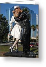 The Kiss - Sailor And Nurse - Sarasota  Greeting Card