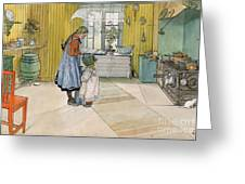 The Kitchen From A Home Series Greeting Card