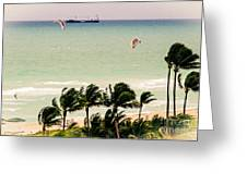The Kite Surfers Greeting Card