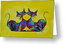 The Kitty Couple Greeting Card
