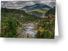 The Klamath Runs Through It Greeting Card