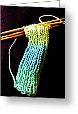 The Knitting Greeting Card