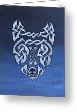 The Knotty Wolf Greeting Card