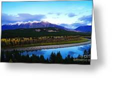 The Kootenenai River Surrounding The Canadian Rockies   Greeting Card