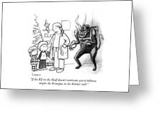 The Krampus In The Korner Greeting Card