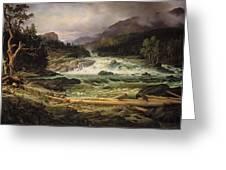 The Labro Falls At Kongsberg Greeting Card