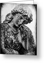 The Lady In Mourning 03 Bw Greeting Card