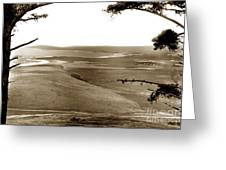 The Lagoon At The Mouth Of The Carmel River  From Fish Ranch California 1905 Greeting Card