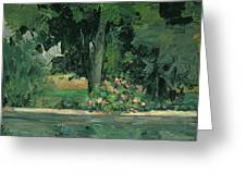 The Lake At Jas De Bouffan, C.1873-76 Greeting Card