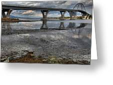 The Lake Champlain Bridge From Cown Point Greeting Card