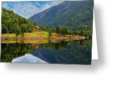 The Lake House Norway Greeting Card