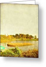 The Lake In Autumn Greeting Card