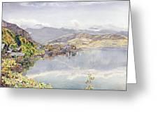 The Lake Of Lucerne, Mount Pilatus Greeting Card