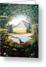 The Lake Path Greeting Card