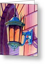 The Lamp On Goodwin Greeting Card by Robert Hooper