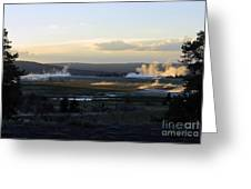 The Land Of Geysers. Yellowstone Greeting Card