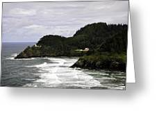 The Landscape Of Heceta Greeting Card