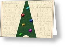 The Language Of Christmas Greeting Card